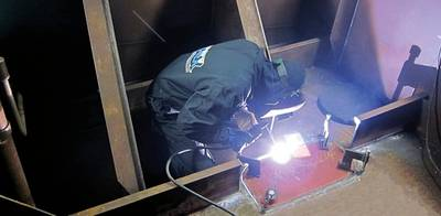 Welding inboard area: Photo credit Hydrex