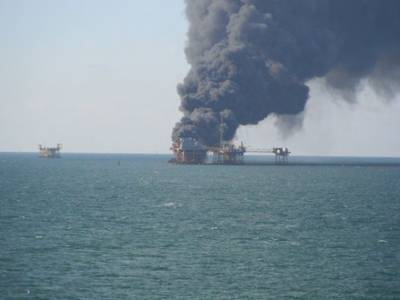 West Delta 32 platform after the explosion (Photo: BSEE)