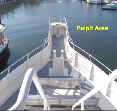 Whale-watching Pulpit Area: Photo credit USCG