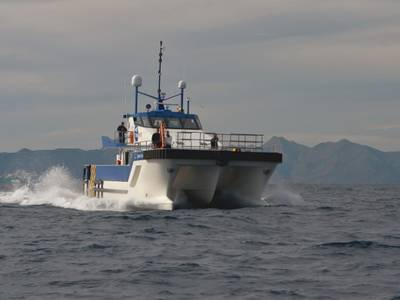 Wind Farm Support Vessel: Photo courtesy of Tidal Transit