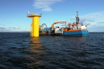 Wind Farm Support Vessel: Photo courtesy of Van Oord