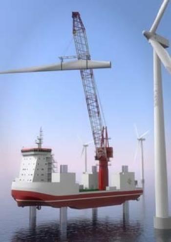 Wind Turbine Support Liftboat Image courtesy of Nordic Yards