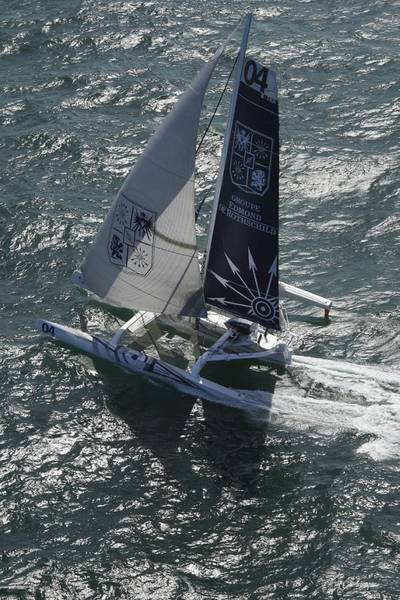 Winning MOD70 Trimaran: Photo Transat Race