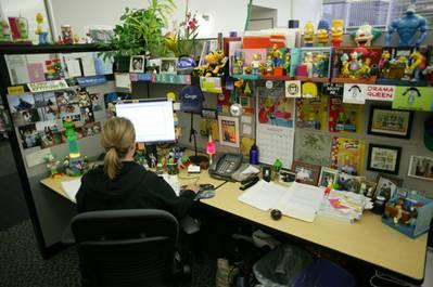 Work 'cube': Photo courtesy of Google