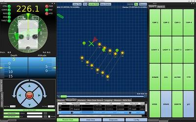 Workclass ROV interface with route automation, station-keeping, and dynamic positioning modules deployed on a touchscreen. (Photo: Greensea Systems, Inc.)