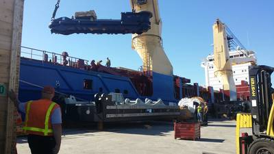 Working Cargo in the Port of Milwaukee
