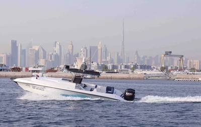 World Security unveiled the first autonomous security surveillance boat to enable a more seamless, safe and efficient operations in addition to coping with the uncertainty of the current changing environment caused by COVID-19 (Photo: DP World)