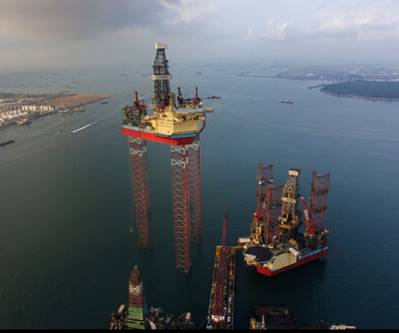 World's Largest Jack-up Rig: Photo courtesy of Maersk Drilling