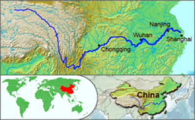 Yangtze River map: Image Wiki CCL