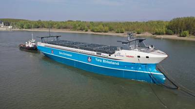 Yara Birkeland was launched in Romania in February 2020 (Photo; Yara International ASA)