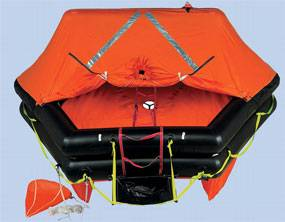 Zodiac's Open Sea ISO 9650 life raft