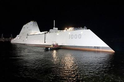 Zumwalt DDG 1000: Photo courtesy of USN