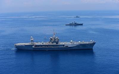 File Image: A US Navy convoy underway. Credit: US Navy)