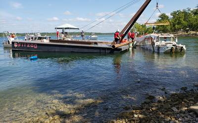 File Image: The Duck Boat salvage operation underway (CREDIT: USCG)