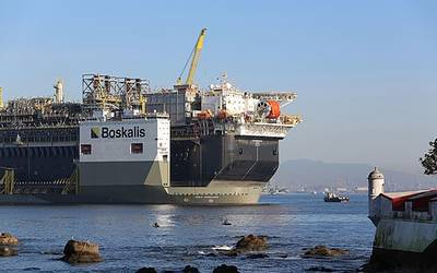 Boskalis heavy transportation vessel carrying an FPSO - Image Credit; Boskalis