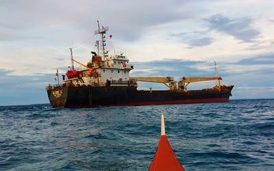 MV Globe 6 rests aground in the Philippines (Photo: PCG)