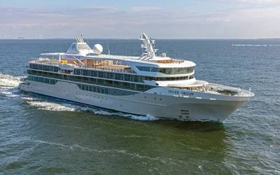 Silver Origin on sea trials (Photo: Silversea Cruises)