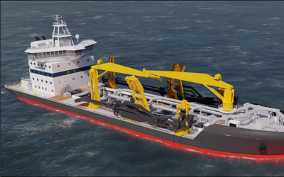 The Admiral Nimitz is a trailing suction hopper dredge that will join Callan Marine's fleet in 2023. (Image: Callan Marine)