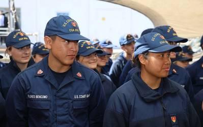 "U.S. Coast Guard Academy cadets aboard USCGC Eagle (WIX 327), ""America's Tall Ship,"" during summer 2021. (Photo: Kristjan Petersson / U.S. Embassy Reykjavik)"