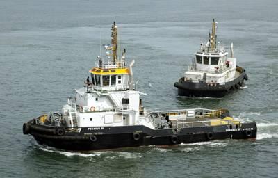 Εικόνα αρχείου: δύο προηγούμενες παραδόσεις KST Tug από την Keppel. (CREDIT: Keppel)