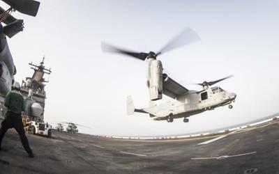 Εικόνα αρχείου: πτήσεις OPS στο USS Boxer (CREDIT: USN)
