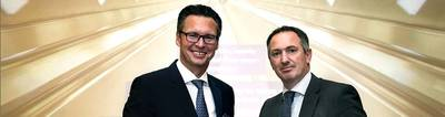 Ο πρόεδρος του IACS Knut Ørbeck-Nilssen (αριστερά) και ο Robert Ashdown, Γενικός Γραμματέας του IACS. Φωτογραφία: DNV GL