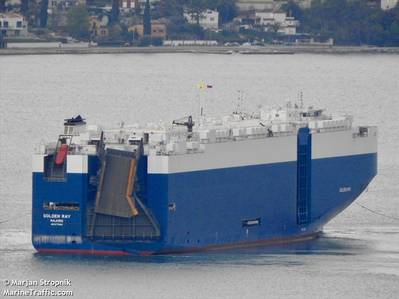 Изображение файла: M / V GOLDEN_RAY / CREDIT MarineTraffic.Com / © Марьян Стропник