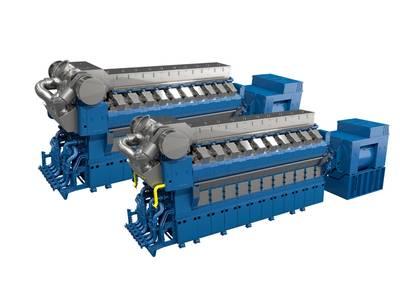 Новые двигатели средней скорости V Rolls-Royce будут состоять из 12, 16 и 20 цилиндров и доступны как в газовом, так и в жидком топливе. (Изображение: Rolls-Royce)
