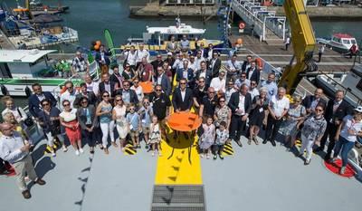 Церемония именования HST для FCS 2710. Фото: Damen Shipyards Group