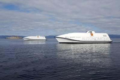 ستكون طائرتا Ocean Space Drones 1 و 2 من KONGSBERG منصات اختبار في مشروع H2H (الصورة: KONGSBERG)