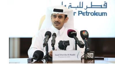سعد شريدة الكعبي ، وزير الدولة لشؤون الطاقة ، الرئيس والمدير التنفيذي لشركة قطر للبترول. الصورة: QP