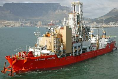 سفينة تنقيب ديمار باسيفيك تغادر من كيب تاون ، مجهزة بمجموعات المولدات الجديدة (الصورة: Wärtsilä)