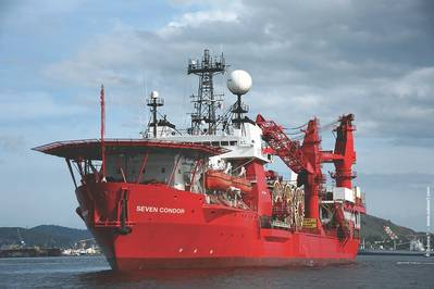 صورة الملف: سفينة دعم سفلية 7 تابعة لسفينة Subsea 7. الائتمان: Subsea 7