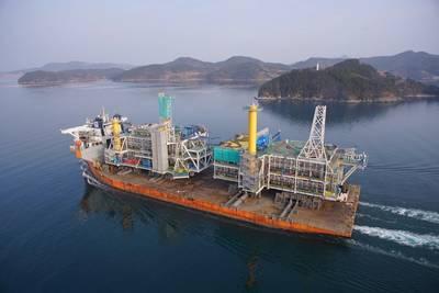 يوهان سفيردروب رب ترك شي جيوجي حوض بناء السفن. صور: شركة سامسونج للصناعات الثقيلة