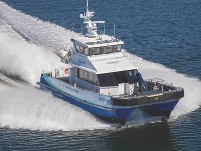 ब्लॉक द्वीप प्रोजेक्ट के जीवनकाल के लिए, जोन्स अधिनियम के अनुपालन और ब्लॉंट द्वारा निर्मित अटलांटिक पायनियर का उपयोग करते हुए अटलांटिक पवन स्थानांतरण, इन प्रमुख सैन्य आवश्यकताओं को पूरा करने के लिए चालक दल और उपकरण हस्तांतरण सेवाएं प्रदान करेगा। (फोटो: ब्लाउंट नाव)