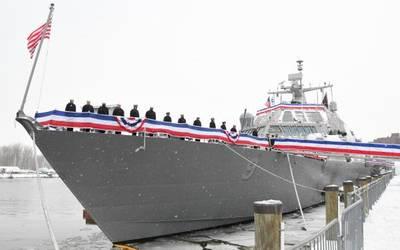 यूएसएस लिटिल रॉक (एलसीएस 9) को 16 दिसंबर, 2017 को बफेलो, एनवाई (लॉकहीड मार्टिन के अमेरिकी नौसेना फोटो शिष्टाचार) में शामिल किया गया था