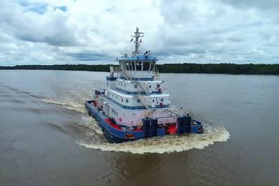 दो नए रॉबर्ट एलन लिमिटेड कस्टम-डिज़ाइन किए गए पुशर्स टग को अब अमेज़ॅन रिवर सिस्टम के साथ Hidrovias do Brasil SA (फोटो: रॉबर्ट एलन लिमिटेड) द्वारा संचालित किया जा रहा है