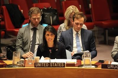 संयुक्त राष्ट्र के अमेरिकी राजदूत निक्की हेली (फाइल फोटो: संयुक्त राष्ट्र के लिए अमेरिकी मिशन)