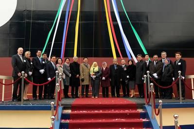 सेरी केमर का नामकरण और वितरण समारोह, दक्षिण कोरिया (फोटो: एमआईएससी) के उल्सान में एचआई शिपयार्ड में आयोजित किया गया था।