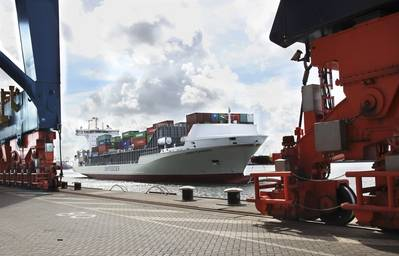 ロッテルダムのUnifeeder船Vera Rambow。写真:Unifeeder Unifeeder船Vera Rambowロッテルダムで。写真:Unifeeder