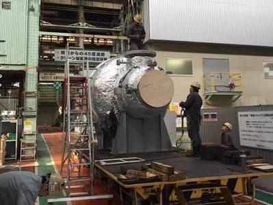 三井物産のTamano工場のSCR-HP原子炉(写真:MAN Energy Solutions)