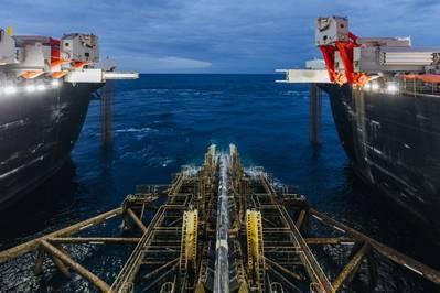 开拓精神铺管船。照片:俄罗斯天然气工业股份公司信息理事会
