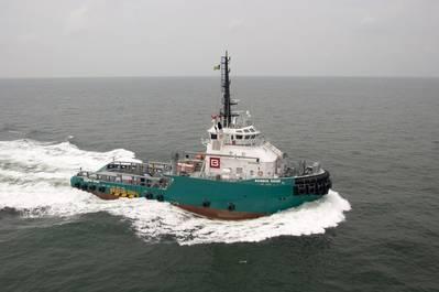沖合いのタグボート船Bourbon Rhoseは、木曜日にカテゴリー4のハリケーンLorenzoの目から約60海里の大西洋に沈みました。 (ファイル写真:バーボン)