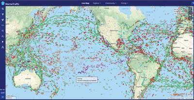 资料来源:MarineTraffic.com