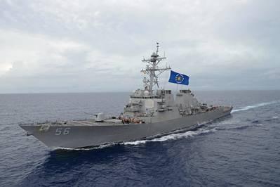 阿利·伯克级导弹驱逐舰约翰·麦凯恩(DDG 56)(美国海军合影)