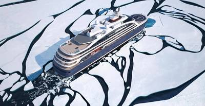Ponantの新しいクルーズ船は、WärtsiläLNGソリューションで高度な環境パフォーマンスを実現します。 (画像:Ponant)