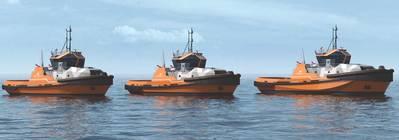 ABS ha otorgado la aprobación en principio a Wärtsilä para un diseño de remolcador impulsado por un híbrido. El nuevo diseño será la base para la nueva cartera de diseños de remolques de Wärtsilä, conocida como la Serie Wärtsilä HYTug. (Imagen: Wärtsilä)