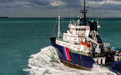 Aktenbild eines Bourbon-Offshore-Versorgungsschiffs unterwegs. KREDIT: Bourbon
