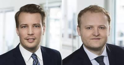 Bjoern Andersen (يسار) و Arne Corleis. الصورة: هافن هامبورغ للتسويق