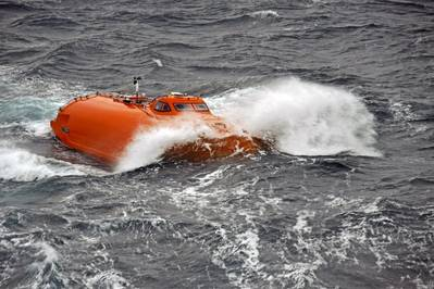 Bote salva-vidas de queda livre Norsafe (Foto: VIKING Life-Saving Equipment)